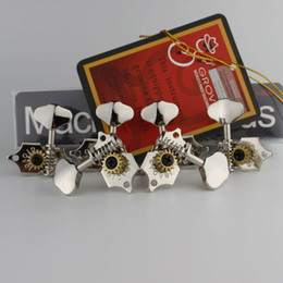 Grover Guitar NZ - Grover Vintage Guitar Machine Heads Tuners 3 Per Side Vertical 97V Nickel Tuning Pegs Made in China