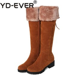 China 2018 New Arrival Plus Big Size 33-44 Black Brown Zip Knee High Lace Up Girl Lady Females Warm Winter Womens Boots X1687 cheap plus size womens winter boots suppliers