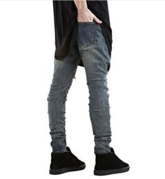 $enCountryForm.capitalKeyWord Australia - Wholesale New fashion Brand men black jeans skinny ripped Stretch Slim kanye west hip hop swag denim motorcycle biker pants Jogger