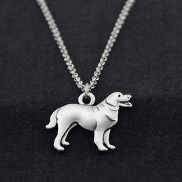 $enCountryForm.capitalKeyWord Australia - Vintage Stainless Steel Long Chain Newfoundland Dog Animal Charm Pendant Choker Necklace for Women Men Fashion Jewelry Pet Lover Party Gift