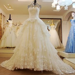 Real Sexy Pictures NZ - Winter Wedding Coat Fur Bolero Ls32588 New Arrival Wedding Dresses Sexy Bandage Tube Top Lace Luxury Puffy Ball Gown Bridal Real Pictures