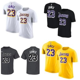 a5ed71adc4d 18-19 Season Men Women Youth 24 Kobe 23 James Yellow Black White Gray  Custom Name And Number Basketball T-Shirt