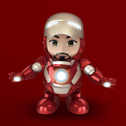 $enCountryForm.capitalKeyWord Australia - Dance Hero Iron Man Doll Toys 20CM Dancing Iron Man Come with Box Packaging Superhero Doll Toys Best Gifts For Kids Toys