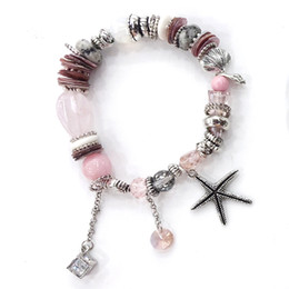 $enCountryForm.capitalKeyWord NZ - 201909 Charm Bracelet Bohemian Beach Seashell Starfish Pendant Girls Luckly Bracelets Women Jewelry Birthday Gift 4 Colors Wholesale M334F