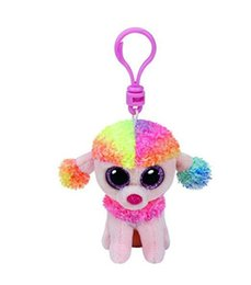 """Doll Brown Australia - Ty Beanie Boos 4"""" 10cm Poodle Keychain Clip Stuffed Plush Collectible Big Eyes Doll Toys For Children Juguetes"""