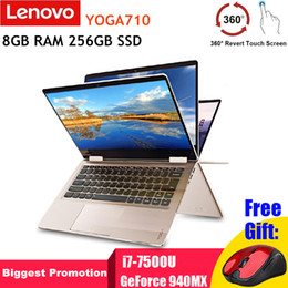 Touch Screen Window Tablets Australia - Lenovo YOGA710 Laptop 14'' Touch Screen Tablet Notebook i7-7500U Dual Core GeForce 940MX 8GB RAM 256GB SSD Windows 10 Bluetooth