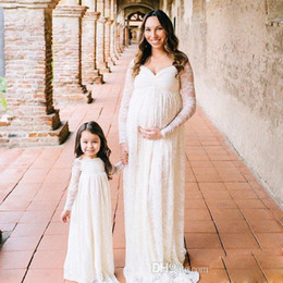 Sweetheart Pregnant Wedding Dress Australia - 2019 Fashion Mother and Daughter Matching A-line Empire Wedding Dresses Sweetheart Charming Lace Pregnant Bridal Dresses for Formal Party