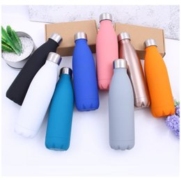wholesale insulated water bottle sleeve Australia - New Cola Shape Water bottle Stainless Steel 500ml Sport Vacuum Flasks Thermoses Travel Bottles Double Walled Vacuum Insulated Water Bottle
