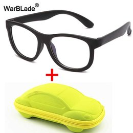 red eyewear kids Canada - WarBlade Anti blue Light Kids Glasses Silicone Flexible Children Optical Frame Eyewear Boy Girls Computer Transparent Eyeglasses