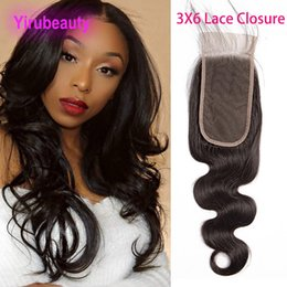 hair waves products 2019 - Brazilian Virgin Hair 3X6 Lace Closure Body Wave Three By Six Closure Human Hair Products 8-22inch Hair Products Three F