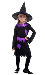 teenage costumes Canada - Shanghai Story Halloween Costumes for Children Kids Witch Costume Cosplay Girls