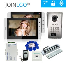 Wholesale quot Screen Video Door Phone Intercom Monitor System RFID Code Keypad Unlock Camera Electromagnetic Lock