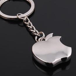 Chegada nova Novidade Lembrança Apple Chaveiro de Metal Presentes Criativos Apple Chaveiro Anel Chave Trinket carro anel de carro em Promoção
