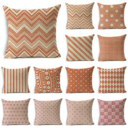$enCountryForm.capitalKeyWord NZ - WZH Pink&Orange Texture Cute Cushion Cover 45x45cm Linen Decorative Pillow Cover Sofa Bed Pillow Case