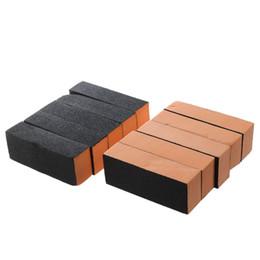 Black Blocks Australia - 10 x Black orange Nail Polisher 4 Way Buffer Buffing Block Manicure File
