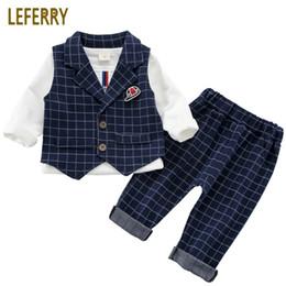 $enCountryForm.capitalKeyWord Australia - Baby Boy Suit Set 3pcs Kids Clothes Boys Baby Clothing Sets Vest Shirt Pants Toddler Boys Clothes Set Wedding Outfits Birthday J190513