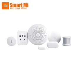 Wireless Video Kit NZ - Original Xiaomi Mijia Smart Home Kit Gateway Door Window Sensor Human Body Sensor Wireless Switch Multifunctional Smart Sets