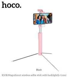$enCountryForm.capitalKeyWord UK - K10B Handheld Tripod Selfie Stick Bluetooth 3.0 Extendable Monopod Selfie Stick Tripod For Samsung Galaxy S10E Huawei P30 Pro OnePlus 7