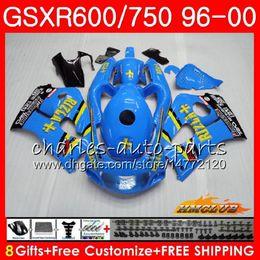 Gsxr rizla fairinG kits online shopping - RIZLA Blue Body For SUZUKI SRAD GSXR GSXR GSXR750 HC GSX R750 GSXR600 Fairing kit