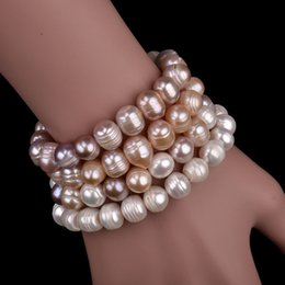 fashion pearl bracelet natural fresh water pearl bracelet 8-9mm jewelry woman birthday gift wedding gifts wholesale on Sale