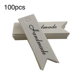 $enCountryForm.capitalKeyWord Australia - 100 PCS Lot Retro Baking Small Label Letter thankyou Handmade baking Blank Tag Bookmark Gift Card