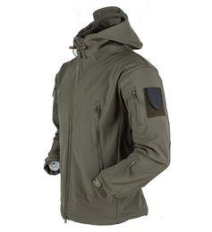 $enCountryForm.capitalKeyWord NZ - Winter Soft Shell Tactical Jacket Men Shark Skin Waterproof Fleece Coat Army Camouflage Windbreaker Jacket Hunt Clothes