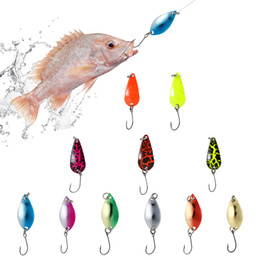 Set Lures Australia - Cheap Lixada 11Pcs lot Metal Fishing Lures Mixed Colors Spoon Lures Set Artificial Trout Lure Spinner Baits for Carp Fishing Tackle