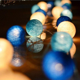 Indoor balls online shopping - Multicolor M cm Leds Battery Powered Warm Led Cotton Ball String Light Fairy Light for Indoor Christmas Tree Decorations T191018