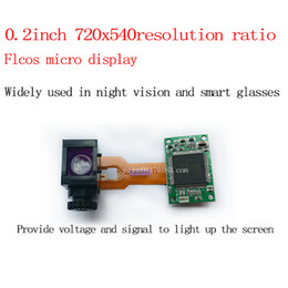 0.2 inch FIcos micro display 720x540 for night vision or smart glasses AVsignal input