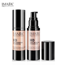 wholesale hd concealer 2019 - IMAGIC Professional Whitening Moisturizing oil-control HD Liquid Foundation Concealer Highlight Shadow Makeup Cosmetic 3