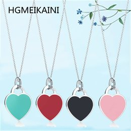 $enCountryForm.capitalKeyWord Australia - HGMEIKAINI 925% pure silver necklace in Europe and the original ms love green enamel pendant charm jewelry gifts