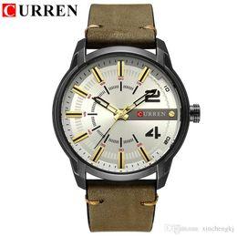 $enCountryForm.capitalKeyWord Australia - CURREN 8306 Smael Watch Fashion&Casual Simple Men Business Gents Watches Classic Dial Stainless Steel Quartz Wristwatches Clock