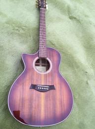 Guitar Electric Acoustic NZ - Factory custom 2019 new brown left-hander K24ce K24 acoustic electric guitar custom custom