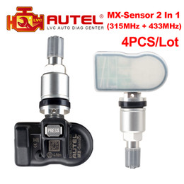 pressure sensor benz Australia - 4pcs Lot Autel MX-Sensor 2 In 1 315MHz + 433MHz Clamp-In OE-Level Programmable Sensor Autel TPMS Sensor 433 315MHz Tire Pressure
