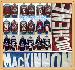 56be03771 2019 Colorado Avalanche 9 Matt Duchene 19 Joe Sakic 29 Nathan MacKinnon 92  Gabriel Landeskog 96 Mikko Rantanen Stitched Ice Hockey Jerseys