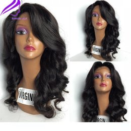 black hair japanese Canada - Japanese Heat Resistant Fiber wigss Synthetic Wavy Lace Front wigs With Baby Hairs Glueless Lace wigss for Black Woman