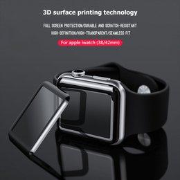 Опт 3D полная защитная пленка для клея для Apple iwatch 4 40MM 44MM Полное изогнутое закаленное стекло 38mm 42mm Серия 1/2/3 Защита от царапин