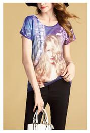 Wholesale Women Fashionable Tops Australia - T Shirt Print Digital Sublimation O Neck Tops Comfortable Short Sleeve Streetwear Funny Free Size Fashionable Apparel For Women