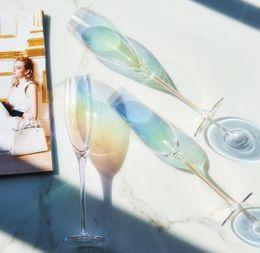 $enCountryForm.capitalKeyWord Australia - Dream Rainbow Champagne Cup Wine Glass Crystal Goblet Home Kitchen Bar Drinking Colors Mix Fashion 23sk F1