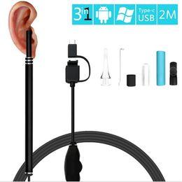 Hd usb endoscope camera online shopping - endoscope ear spoon mm P Lens Ear endoscope USB Borescope Inspection Otoscope mini Camera cam for Android PC