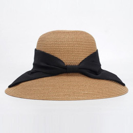 3b95ff610fe Women s visor Spring and summer new bow fisherman hat sun hat travel Lady  Wide Brim Hats