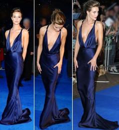 Royal blue pink decoRations online shopping - 2019 New Simple Design Sexy V Neck Design Mermaid Celebrity Dresses Draped Decoration Evening Dresses Taffetta Prom Gowns Vestidos
