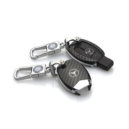 Mercedes Key Case Australia - Carbon Fiber Car Key Case Shell For Mercedes Benz Key FOB
