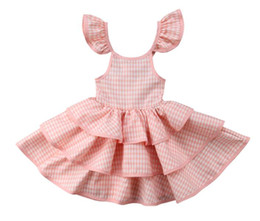 China 2019 new Toddler Kids Baby Girls Ruffled Tutu Dress Sundress Summer Party Pageant Layered Princess Dress Children Baby Girl Clothes suppliers