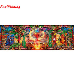 $enCountryForm.capitalKeyWord Australia - Large size 5D Diy Diamond Painting Cross Stitch full round Square Diamond Embroidery Phoenix and Warriors for room Decor H2279