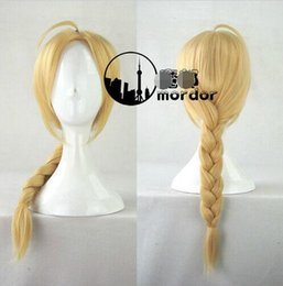 Heart Wig NZ - Fullmetal Alchemist Edward Elric's Wigs Long Warm Blonde Cosplay Braid Hair Wigs