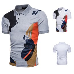 Camouflage Pole Australia - Sexy2019 Pattern Man European Code Trend Camouflage Printing Short Sleeve T Pity Q61 Pole