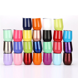 Double Walled Glasses Cups Australia - Wholesale NEW Stainless Steel Swig Wine Cups 12oz Vacuum Double Wall Glass Thermos Cup Free Shipping