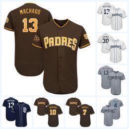 78d5b014a 13 Manny Machado 50th Anniversary 4 Wil Myers 30 Eric Hosmer 7 Manuel  Margot 10 Hunter Renfroe 3 Ian Kinsler Padres Baseball Jersey