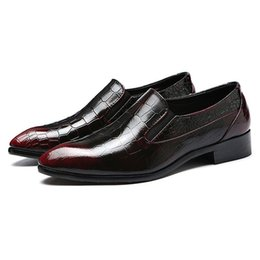$enCountryForm.capitalKeyWord Australia - Plus Size 37-48 New Vintage Leather Men's Pattern Casual Loafers Pointed Toe male paty prom shoes Slip on Man Moccasin Wedding Party Shoes